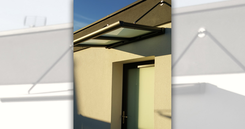 Emg stores vente et installation de marquise h singue haut rhin - Marquise de porte aluminium ...